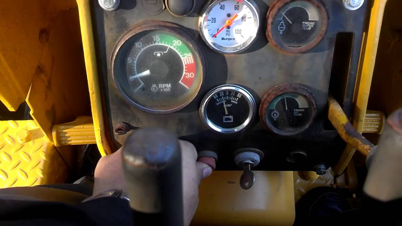 hight resolution of starting and driving a john deere 450c bulldozer