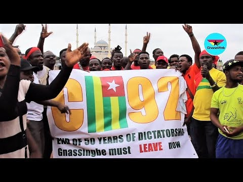 Togolese in Ghana hit the streets to demand resignation of Gnassingbé