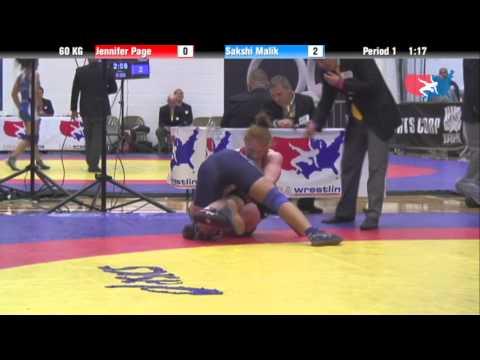 60 KG Finals - Jennifer Page (TMWC) vs Sakshi Malik (India)