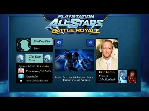 Playstation All Stars Battle Royale: Interview with Eric Ladin (PS3)