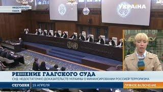 """Международный суд ООН в Гааге принял решения по делу """"Украина против России"""""""