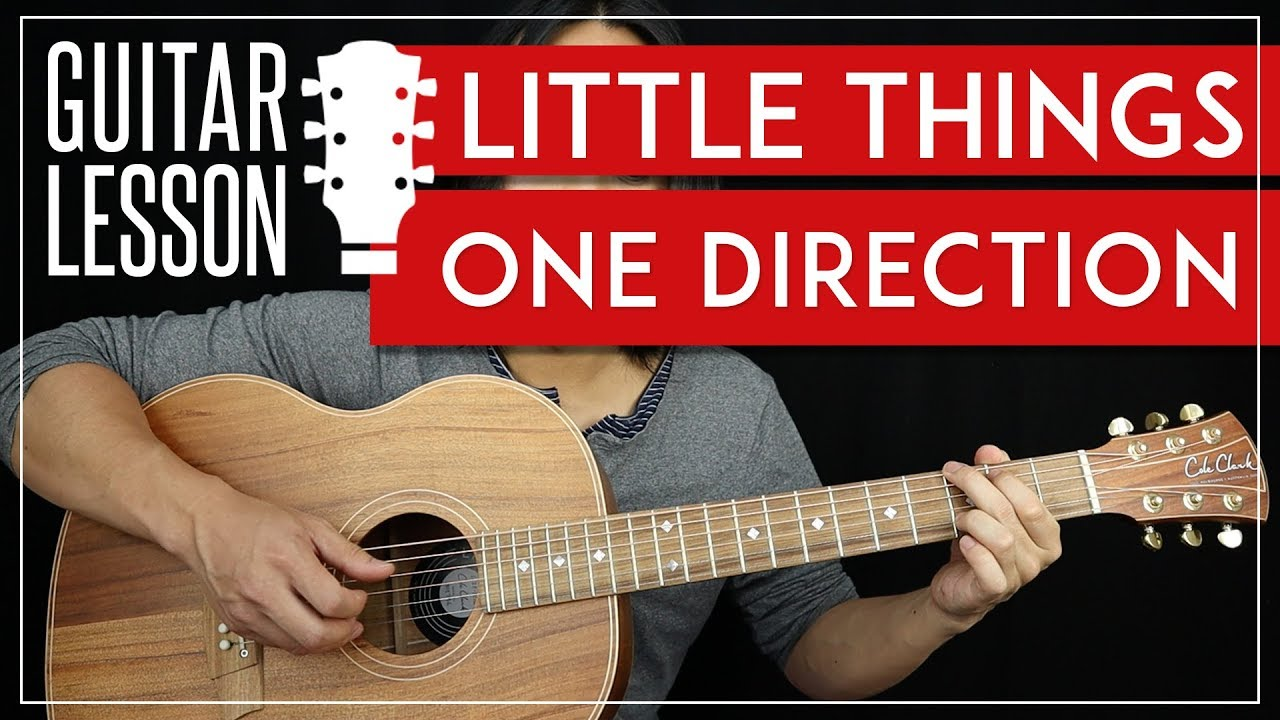 Little Things Guitar Tutorial   One Direction Guitar Lesson 🎸 TABS + No  Barre Chords + Cover