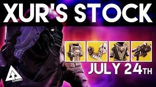 Destiny Xur Location - Exotic Armor and Weapons Breakdown | Xur July 24th