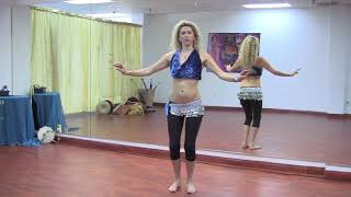 StepFlix Belly dance, level 1, basic step16: omi or small hip circles