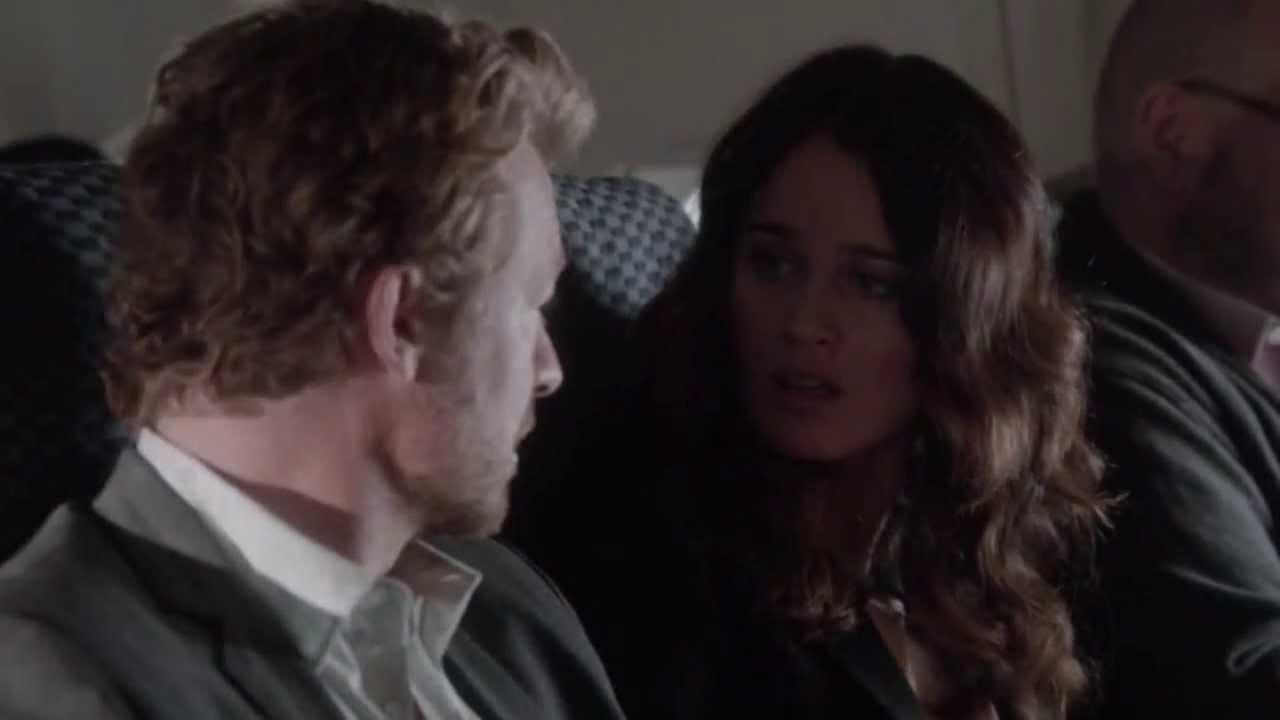 The mentalist 6x10 Lisbon,Jane(plane scene):