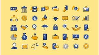 40 Animated Finance And Banking Icons Motion Graphics Templates