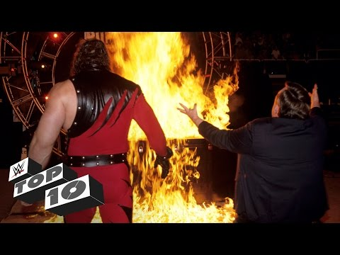 Thumbnail: Superstars playing with fire - WWE Top 10