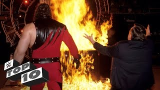 Superstars playing with fire - WWE Top 10