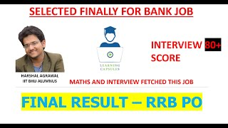 IBPS RRB PO 2019 - FINAL RESULT AND SCORECARD - SELECTED