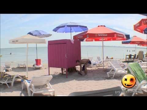 【海外ドッキリ映像】ウクライナ発 ピンクパンティーどっきり【閲覧注意】