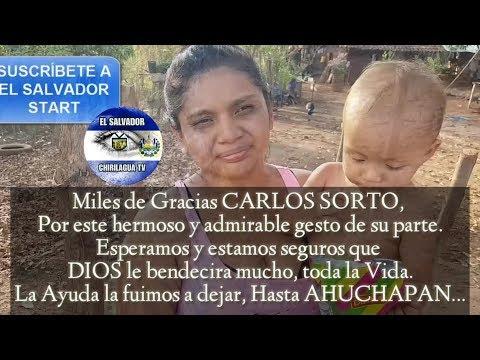 ENTREGA DE AYUDA POR MEDIO DE EL SALVADOR STAR A PATY VIERA, GRACIAS CARLOS SORTO!