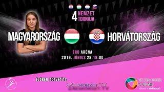 4 Nemzet Torna Érd: Magyarország - Horvátország Junior válogatott kézilabda mérkőzés