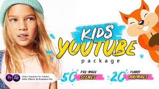 Kids YouTube Package | After Effects and Premiere Pro