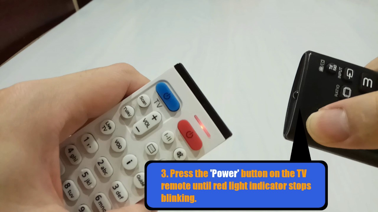 Setting TV buttons on your HYPPTV remote control