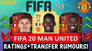 FIFA 20   MANCHESTER UNITED PLAYER RATINGS!! FT. POGBA, KOULIBALY, GRIEZMANN ETC..(TRANSFER RUMOURS)