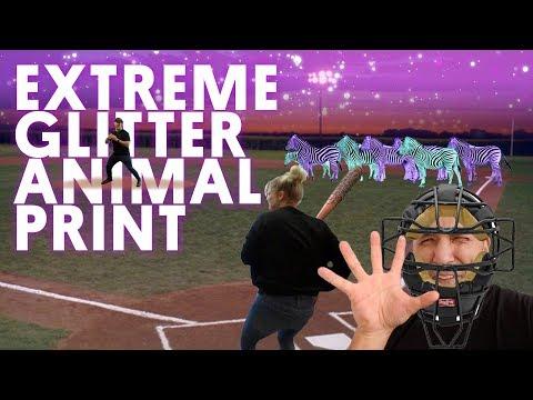 EXTREME GLITTER ANIMAL PRINT (GEL NAILS)- VLOG 123