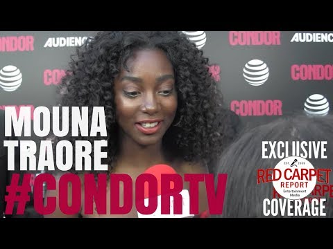 Mouna Traoré ed at premiere of CondorTV spy thriller on AUDIENCEnetwork NowStreaming