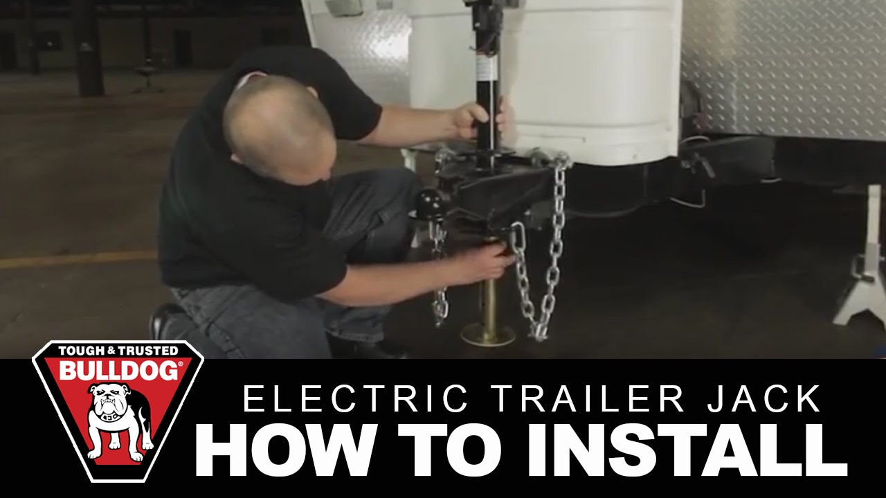 how to install a bulldog electric trailer jack - youtube