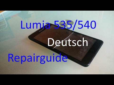 Microsoft Lumia 535/540 repairguide deutsch display/touchscreen wechseln