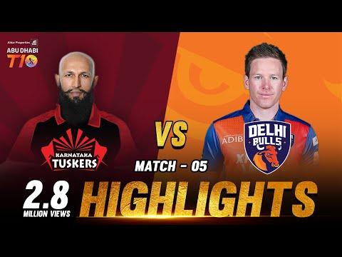 Karnataka Tuskers vs Delhi Bulls I Day 2 Match 5 I Aldar Properties Abu Dhabi T10