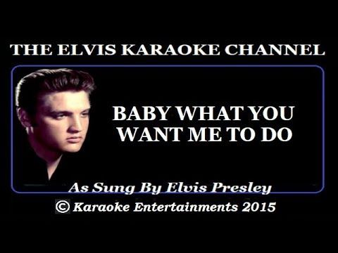 Elvis At The Movies Karaoke Baby What You Want Me To Do