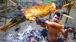 Cooking Crocodile Lechon bbq Recipe - Roasted crocodile meat bbq with Chili Sauce