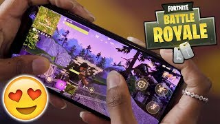 SO sieht Fortnite auf dem Handy aus! Gameplay ???? Fortnite Mobile Deutsch / German