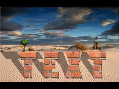 Как сделать 3D текст в фотошопе. Кирпичный текст - YouTube: http://www.youtube.com/watch?v=9UcDUQeqjwY