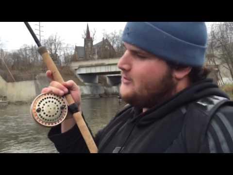 Dec. 3/2016 - LATE RUN COHO - Credit River, ONTARIO CENTERPIN FISHING