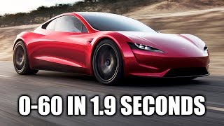 How The Tesla Roadster Hits 60 MPH In 1.9 Seconds!