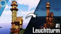 Funktionierenden Leuchtturm bauen Minecraft 🗼 Minecraft Leuchtturm bauen deutsch | Teil 1/2