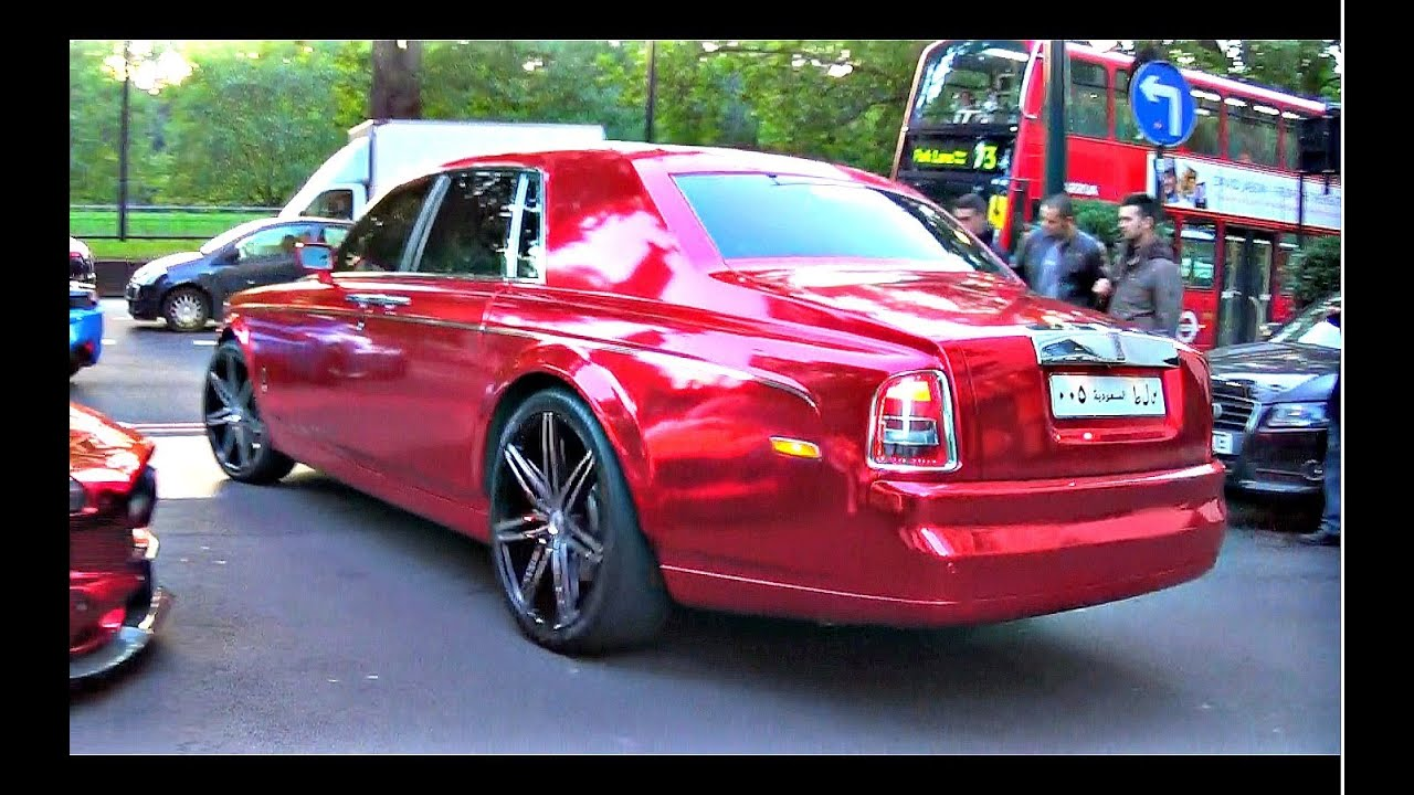 Crazy Pimped Up Rolls Royce Phantom In Foil Red Youtube