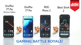 Tested! OnePlus 7T Pro McLaren vs OnePlus 7T Pro vs ROG Phone 2 vs Black Shark 2: Gaming Comparison