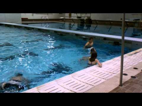 Kassidy practicing Flip Kick