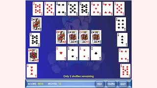 How to play Crecent Solitaire game | Free online games | MantiGames.com