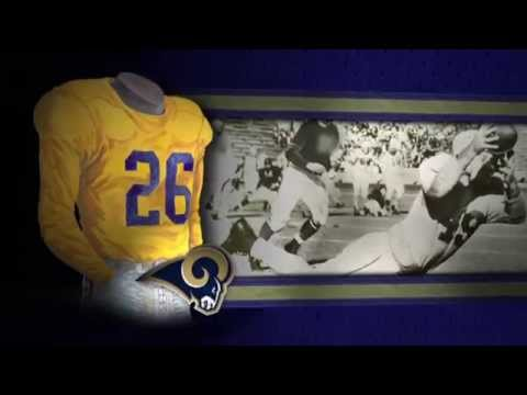 Los Angeles Rams (formerly St. Louis Rams) uniform and uniform color history