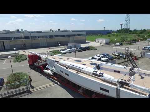 Video Drone Cantiere del Pardo Grand Soleil 58 - first trip - prima uscita