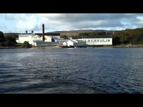 Islay whisky distilleries from the sea