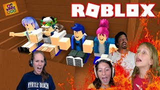 ROBLOX RAFT SURVIVAL TERRIFYING BOAT RIDE! THE GROUND IS LAVA! | WPFG FAMILY MULTIPLAYER GAMING