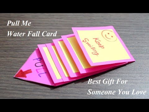 DIY - Water Fall Card | Pull Me Waterfall Card | Best Gift Card