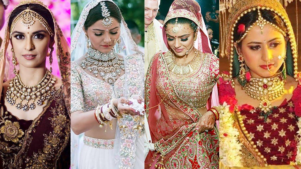 20 TV Actress Royal Wedding Day Look | Rubina Dilaik, Ekta Kaul, Bharti  Singh, Sargun Mehta