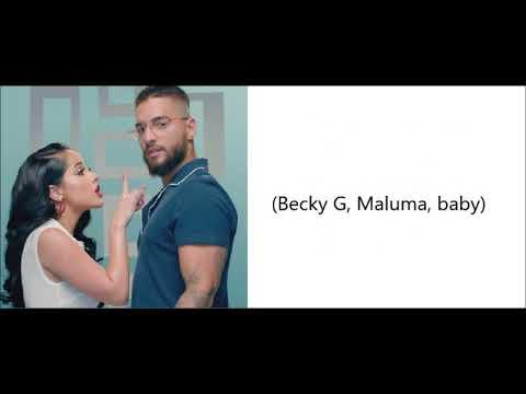 Becky G ft Maluma -  La Respuesta LetraEnglish