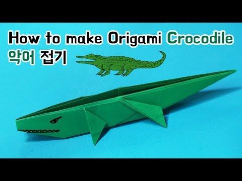 How to make Origami Crocodile
