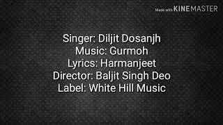 Diljit Dosanjh  Aar Nanak Par Nanak  (Official Lyrics Video)  Gurmoh  Lyrics Video