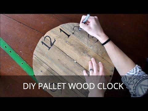 Pallet Wood Clock DIY Tutorial