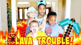 THE FLOOR IS LAVA TROUBLE with Shasha and Shiloh Onyx Kids - SuperHero Kids thumbnail