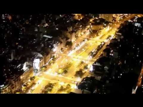 Buenos Aires Night Flight. Vuelo Nocturno sobre Buenos Aires.