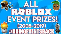 ALL ROBLOX EVENT PRIZES (2008-2019) [#BRINGEVENTSBACK]