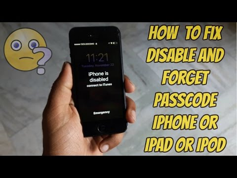 how to fix a disabled iphone how to remove reset any disabled or password locked 18811