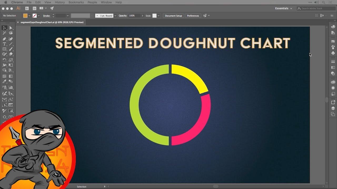 Create A Segmented Doughnut Chart In Adobe Illustrator Youtube Inkscape39s New Voronoi Diagram Generator The Circles Are Created